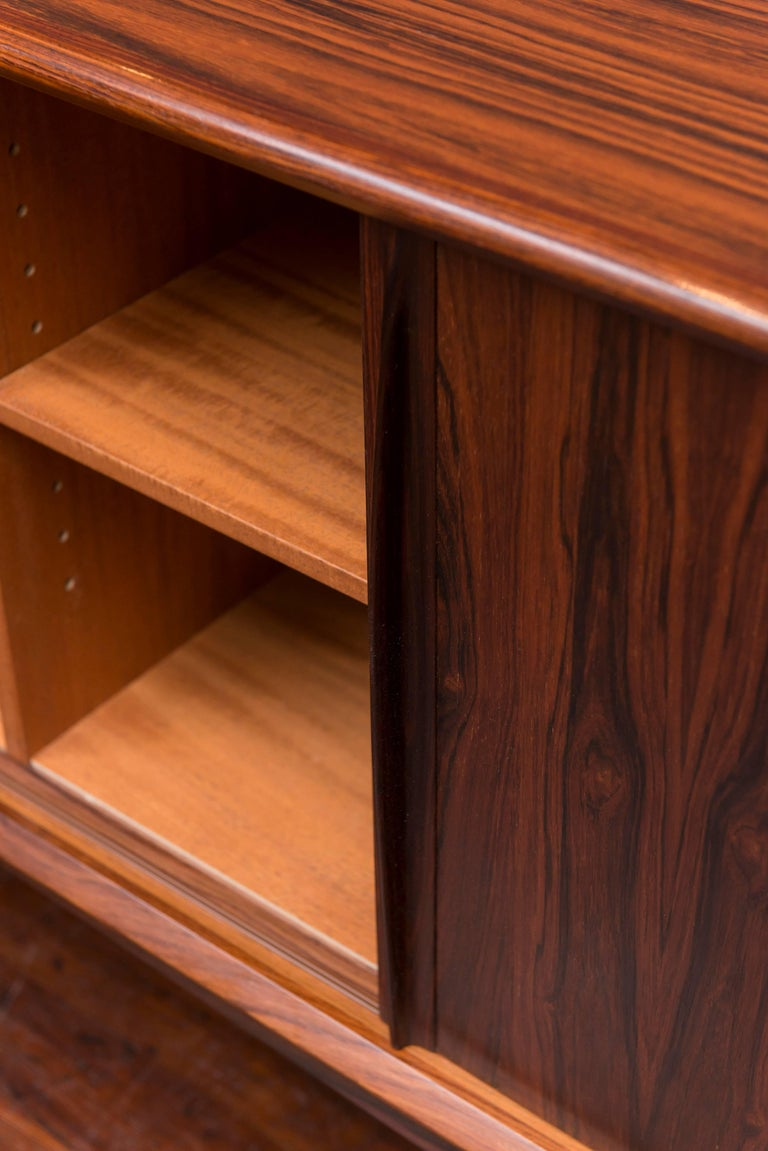 Danish Rosewood Credenza In Excellent Condition For Sale In San Francisco, CA