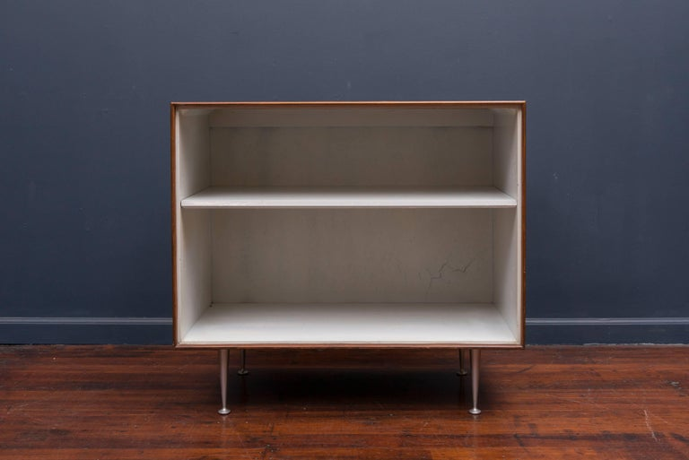 George Nelson thin edge bookshelf for Herman Miller. Rare model bookshelf from this series in very good original condition with expected age appropriate wear.