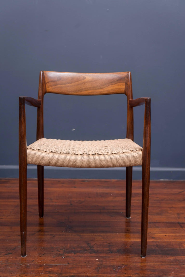Set of Six Rosewood J.L. Møller Dining Chairs 2