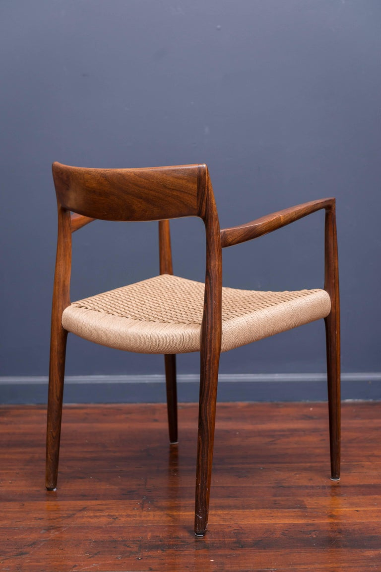 Set of Six Rosewood J.L. Møller Dining Chairs 6