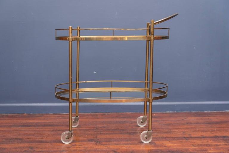Hollywood Regency Brass Bar Cart 7