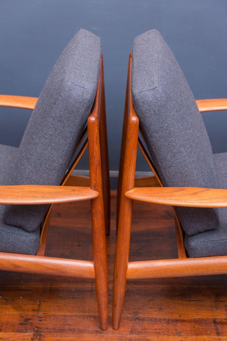 Scandinavian Modern Danish Lounge Chairs by Greta Jalk For Sale