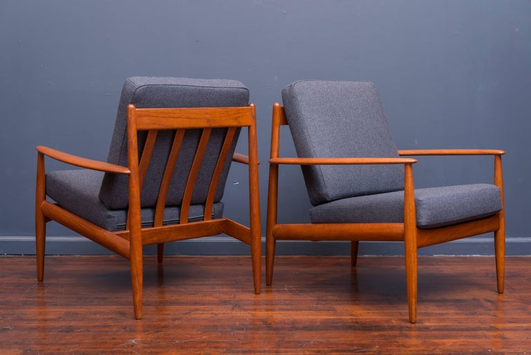Danish Lounge Chairs by Greta Jalk In Excellent Condition For Sale In San Francisco, CA