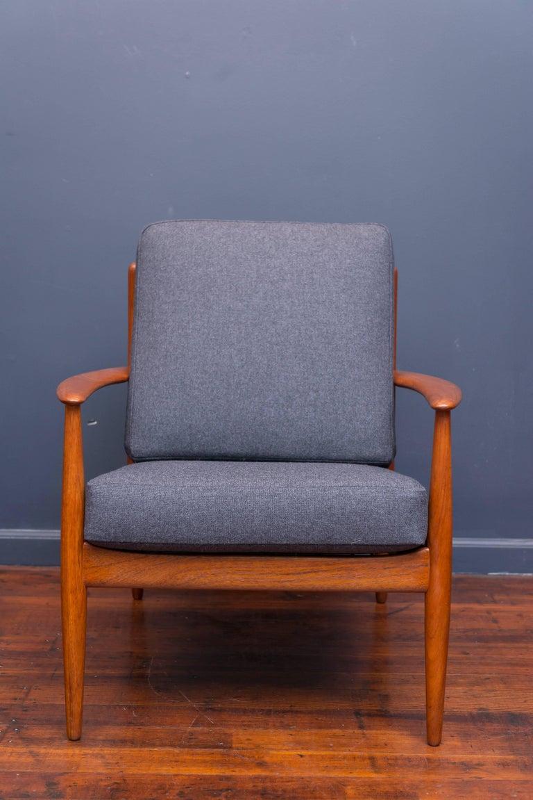 Teak Danish Lounge Chairs by Greta Jalk For Sale