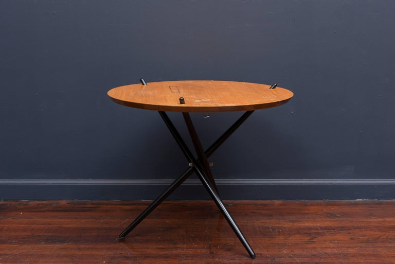 Hans Bellman design tripod table for Knoll, 1948. Iconic table acquired directly from the original owners in need of restorations.