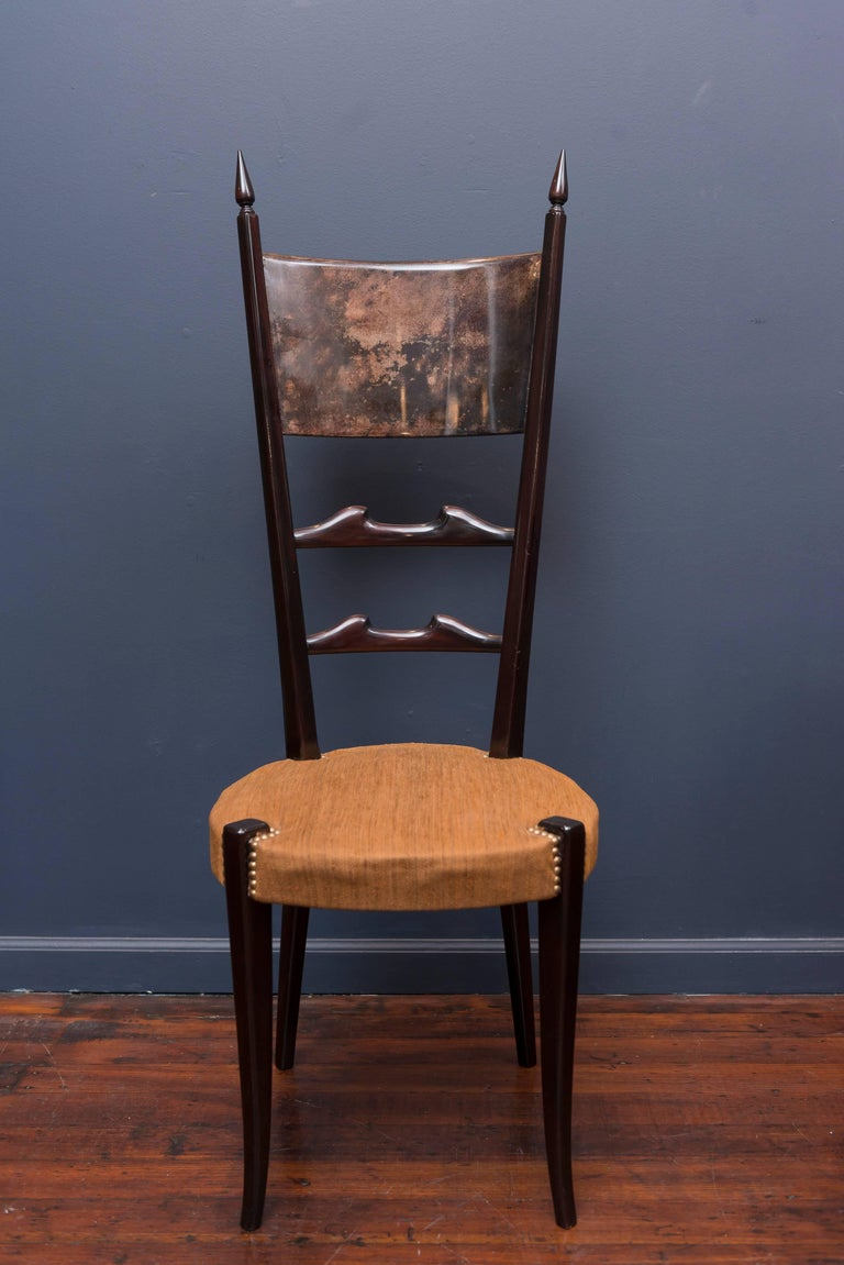 Mid-20th Century Aldo Tura Games Table and Chairs For Sale