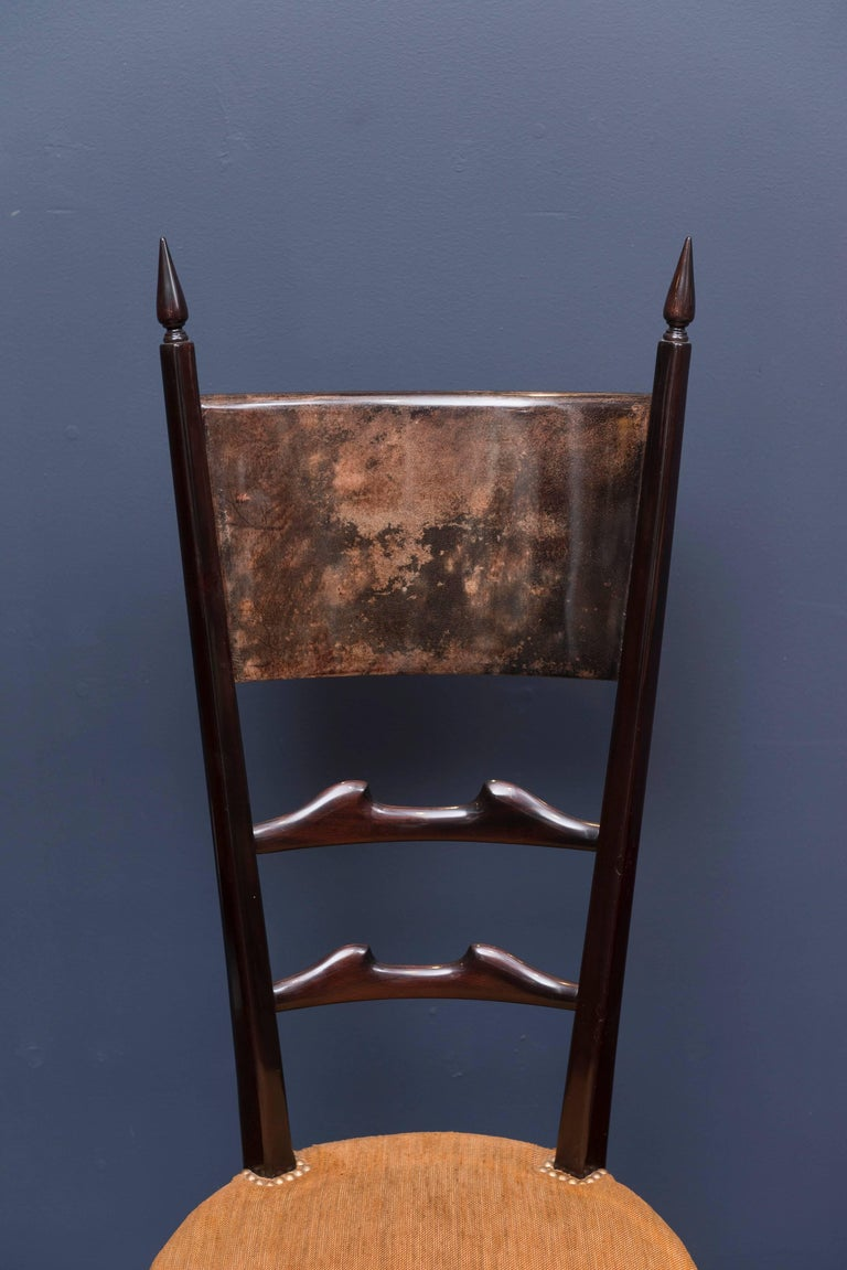 Goatskin Aldo Tura Games Table and Chairs For Sale