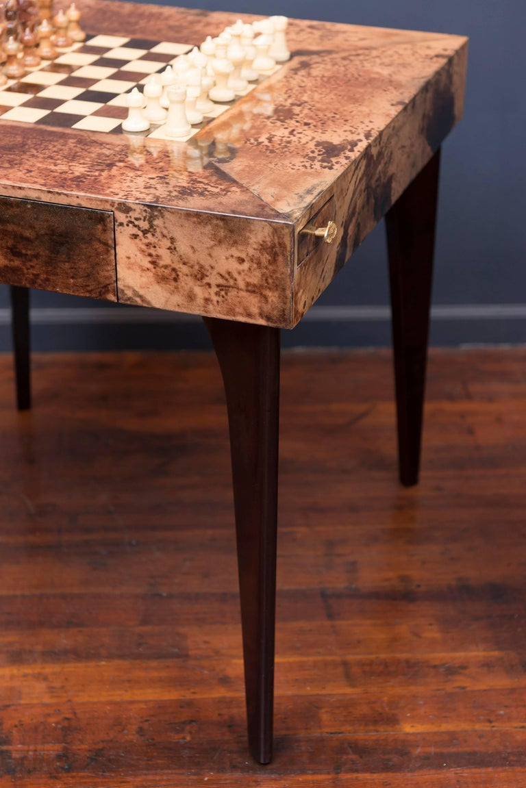Aldo Tura Games Table and Chairs 10