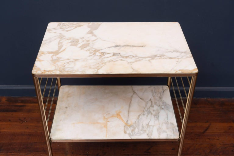 Brass and Marble Dry Bar, Italy For Sale 2