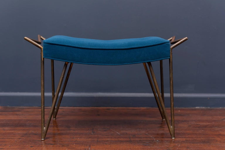 Mid-20th Century Mid-Century Brass Bench, Italy For Sale