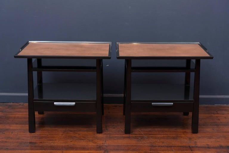 Mid-Century Modern Edward Wormley for Dunbar Side Tables For Sale