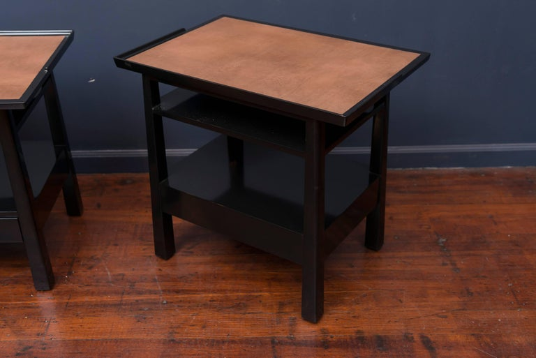 Mahogany Edward Wormley for Dunbar Side Tables For Sale