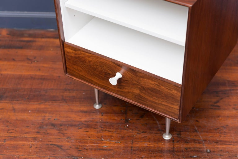 Mid-Century Modern George Nelson Thin Edge Rosewood Nightstand For Sale