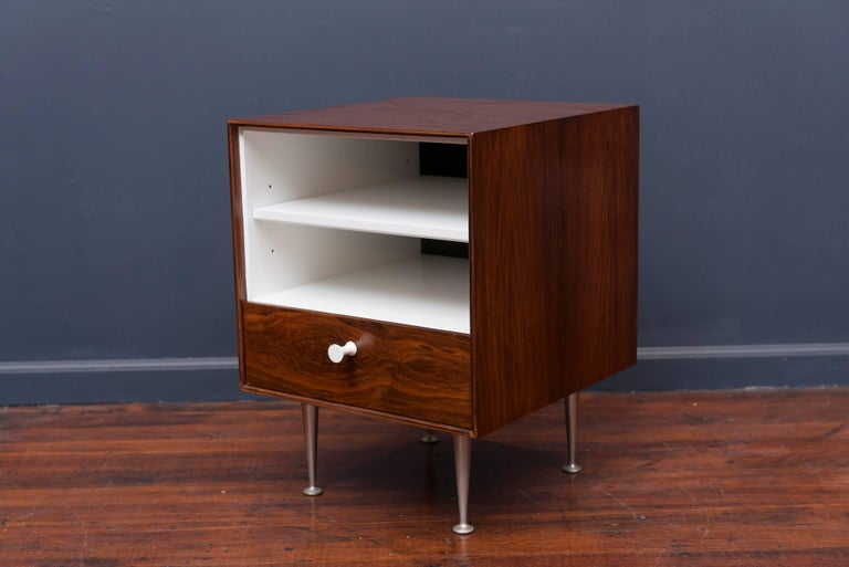 George Nelson Thin Edge Rosewood Nightstand In Excellent Condition For Sale In San Francisco, CA