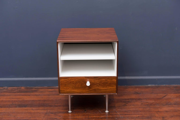 Mid-20th Century George Nelson Thin Edge Rosewood Nightstand For Sale