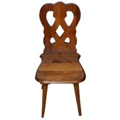 Early 1900s Century French Oak Childs Chair