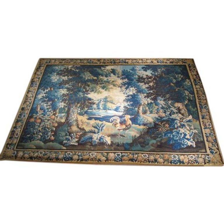 Large  18th Century French Aubusson Tapestry 113''h x 150''w