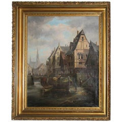 Signed Armand J. Vanderlick Painting Listed Benezit Etc