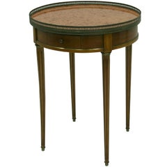 19th Century French Bouillotte Table with Marble Top