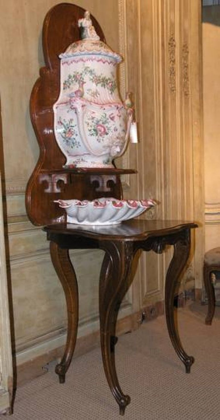 Lavabo Early 19th Century French Faience Lavabo with Strausburg Markings 2