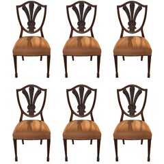 Early 19th Century Set of Six French Chairs, New Upholstery