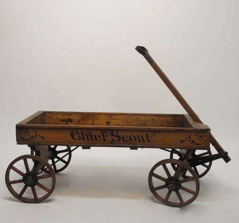 19th Century Chief Scout Wooden Wagon