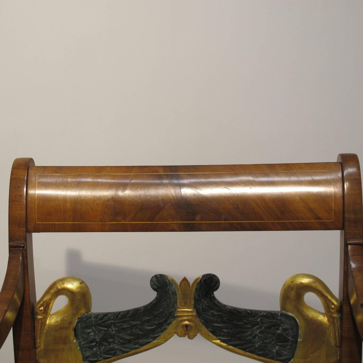 English Regency Mahogany Armchair For Sale at 1stdibs