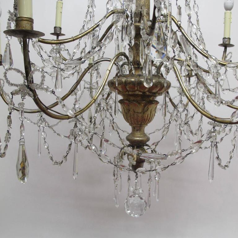 18th Century Silver Gilt Italian Chandelier For Sale 2