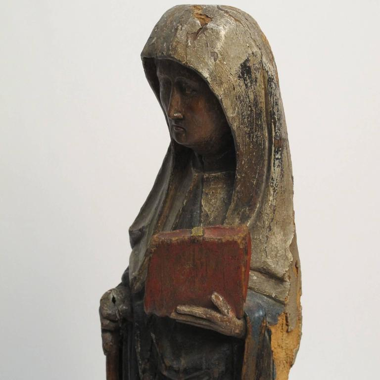 Large 18th Century Northern European Saint Statue In Excellent Condition For Sale In San Francisco, CA