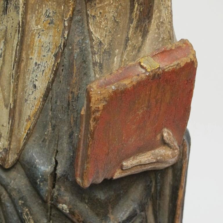 Large 18th Century Northern European Saint Statue For Sale 1