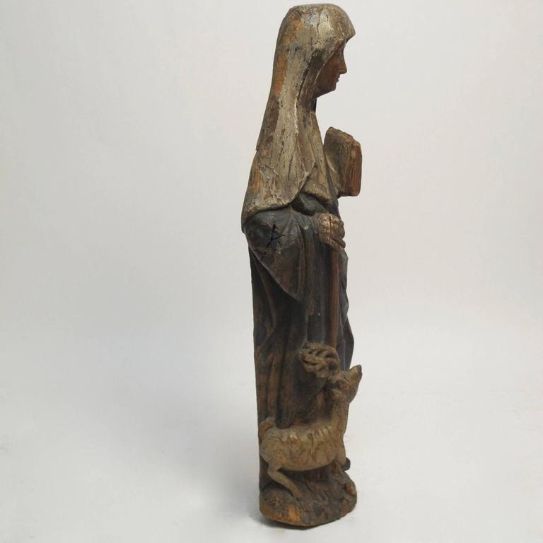 Large 18th Century Northern European Saint Statue For Sale 2