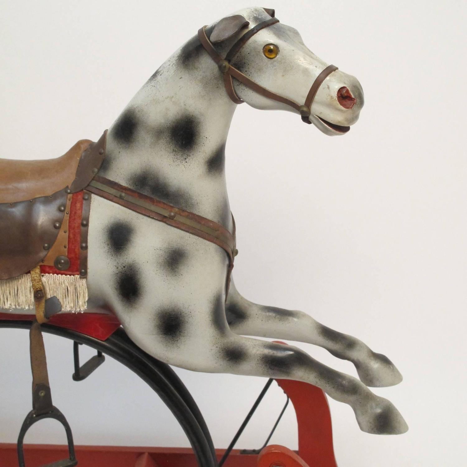 Antique american rocking horse for sale at 1stdibs for Vintage horseshoes for sale