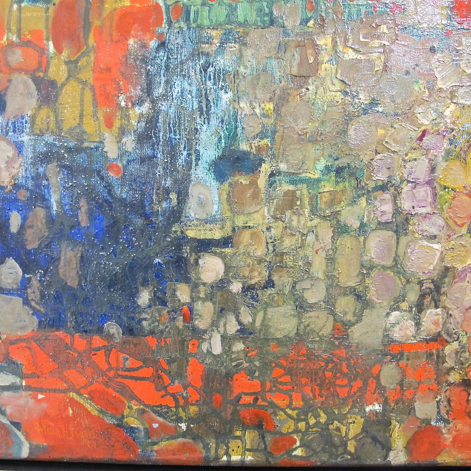Mid Century Abstract Painting At 1stdibs