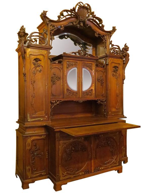 Impressive Art Nouveau Austrian Server Or Back Bar At 1stdibs