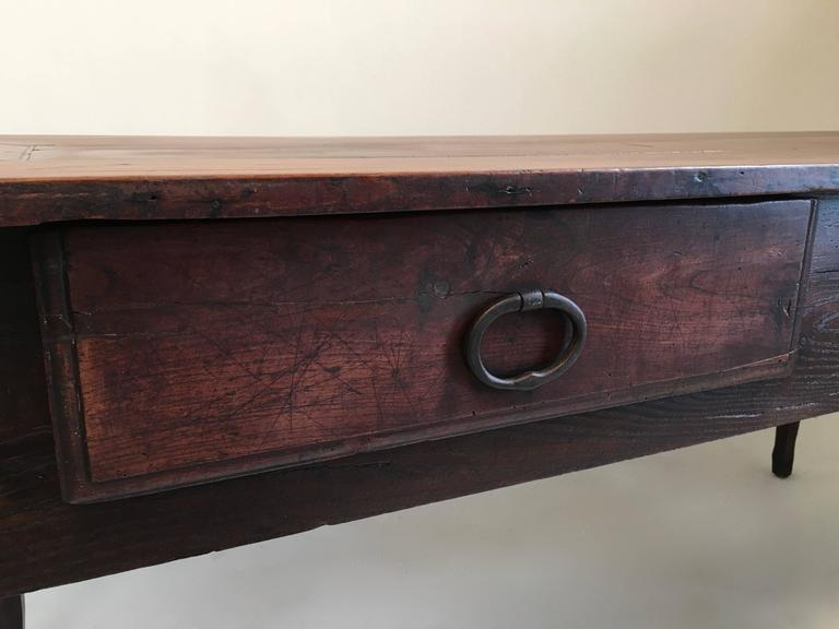 Hand-Carved 18th century country French  large Walnut Desk /table For Sale