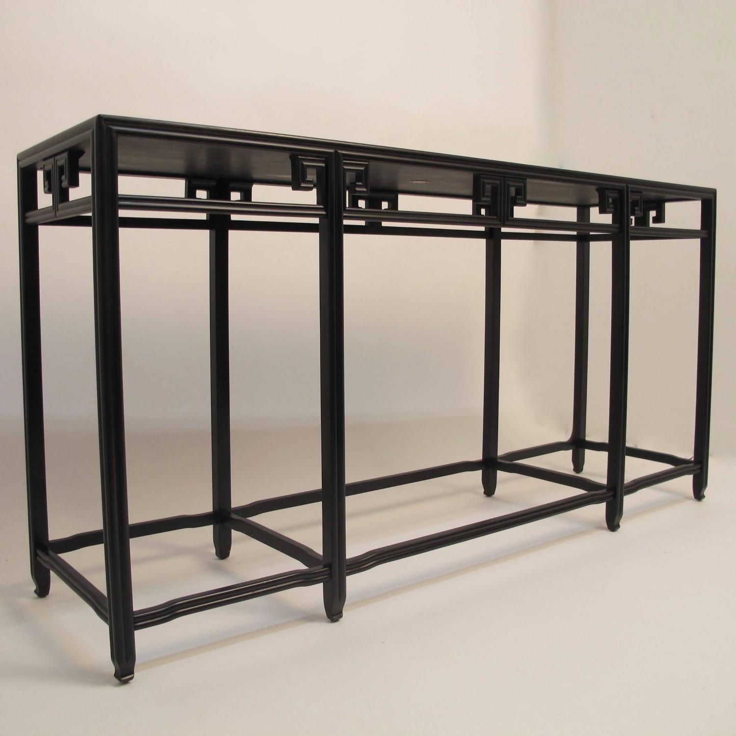 Black asian style console table for sale at stdibs