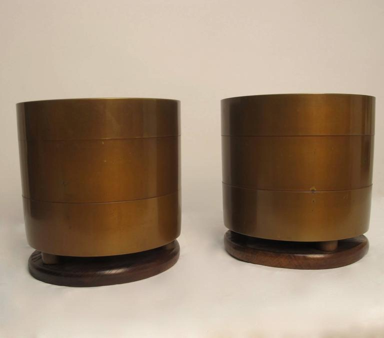 Japanese Bronze Hibachi's or Planters with Silver Inlay, Early 20th Century  In Excellent Condition For Sale In San Francisco, CA