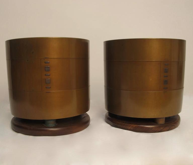 Meiji Japanese Bronze Hibachi's or Planters with Silver Inlay, Early 20th Century  For Sale