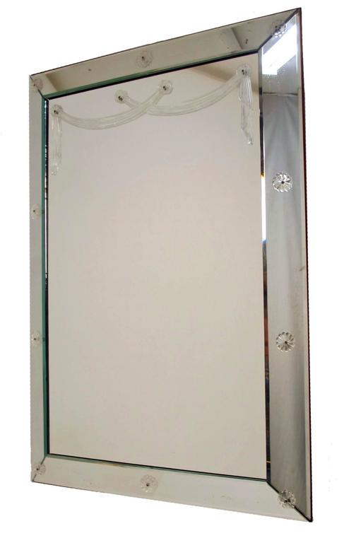 20th Century Large Art Deco Mirror For Sale