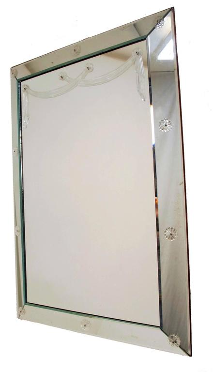 Large Art Deco Mirror In Excellent Condition For Sale In San Francisco, CA