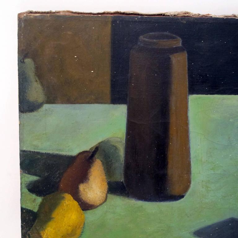 Hand-Painted Still Life Painting by David Ladin, American Mid 20th Century For Sale