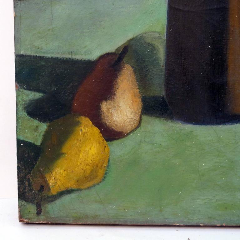 Canvas Still Life Painting by David Ladin, American Mid 20th Century For Sale