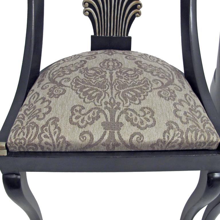 20th Century   set of 4 Hollywood Regency Style Dining Chairs, (Set of Four) For Sale