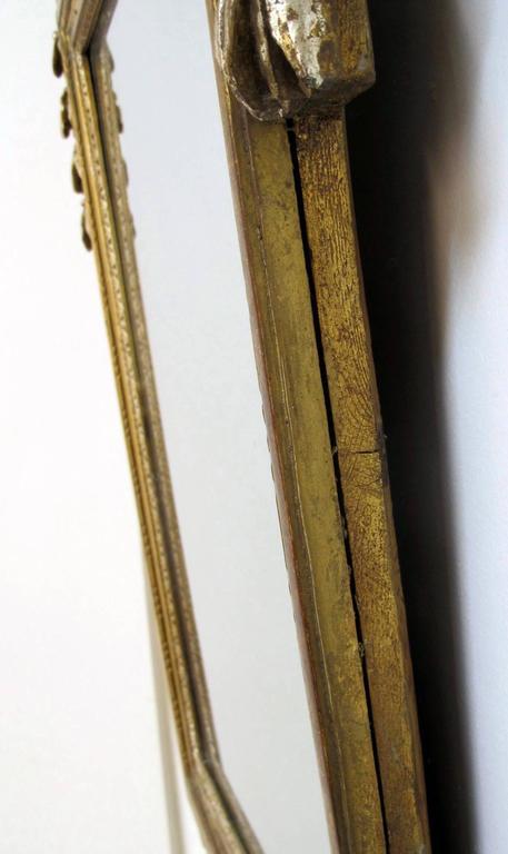 French 18th Century Louis XV White Gold Gilt Mirror 7