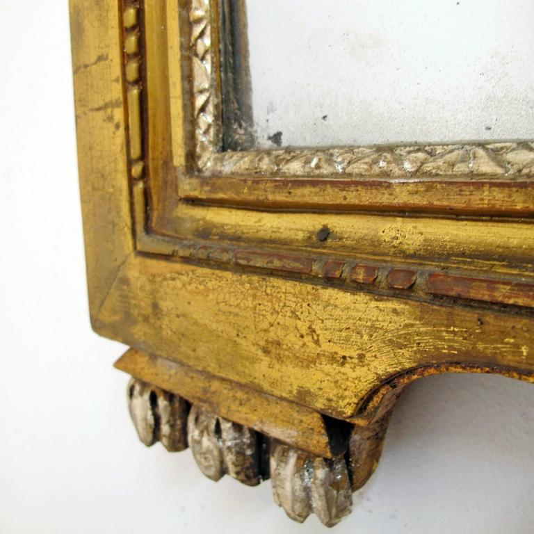 French 18th Century Louis XV White Gold Gilt Mirror 9