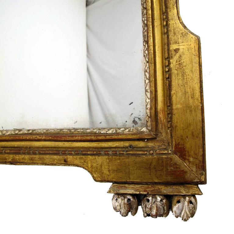 Wood French 18th Century Louis XV White Gold Gilt Mirror