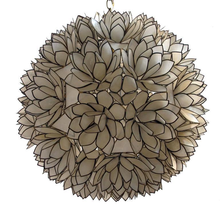 this large capiz shell pendant light fixture is no longer available. Black Bedroom Furniture Sets. Home Design Ideas