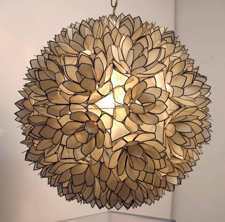 this large capiz shell pendant light fixture is no longer available. Black Bedroom Furniture Sets. Home Design Ideas