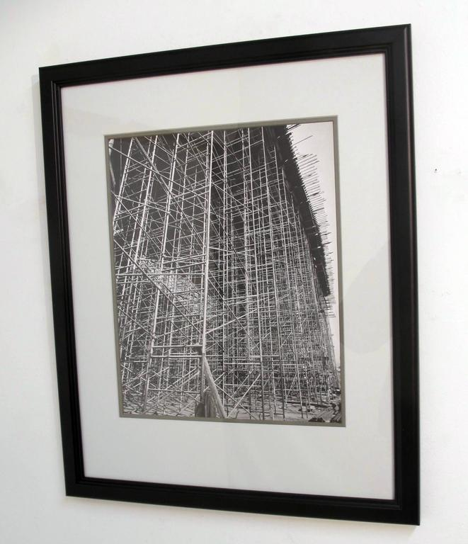 20th Century Architectural Industrial Black and White Photograph For Sale