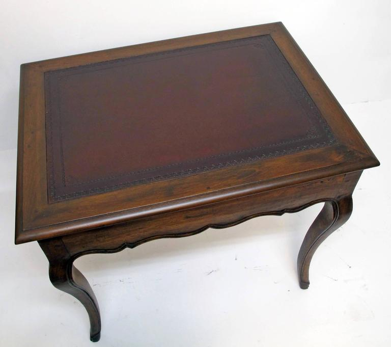 Leather 18th Century French Louis XVI Writing Table or Desk For Sale